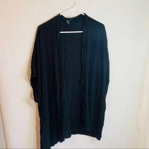 Forever 21 black kimono cardigan